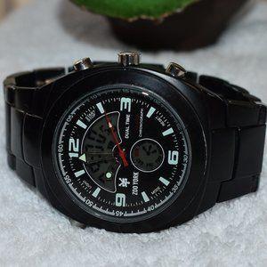 Zoo York Black Analog/Digital Chronometer Watch